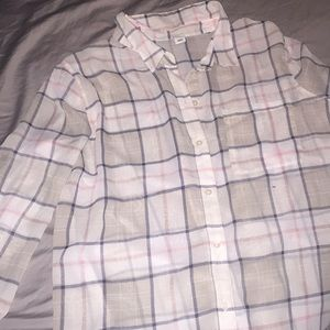 Old Navy sheer button down size xl